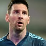 Lionel Messi durante el partido de Argentina contra Perú, en el Estadio Nacional, Lima.Ernesto Benavides/Pool de Argentina vía REUTERS