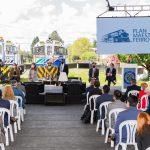 """""""Con esto sentamos las bases para avanzar desde ya y para dejarles a las próximas generaciones de colombianos la competitividad que se requiere en el transporte ferroviario de nuestra nación"""", dijo este lunes el Presidente Iván Duque al lanzar el Plan Maestro del sector.Foto: Nicolás Galeano – PRESIDENCIA"""