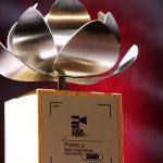 Estatuilla del We Cam Fest, el primer festival de cine incluyente de Colombia (We Cam Fest - Handout Agencia Anadolu)