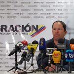 El director de Migración Colombia, Juan Francisco Espinosa, durante una conferencia de prensa REUTERS/Luis Jaime Acosta