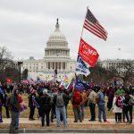 Partidarios del presidente de Estados Unidos, Donald Trump, asisten a una manifestación para impugnar la certificación de los resultados de las elecciones presidenciales de Estados Unidos de 2020 por parte del Congreso, en Washington DC, EEUU. 6 de enero de 2021. REUTERS/Shannon Stapleton