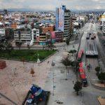 Panorámica de la zona comercial de San Victorino durante el aislamiento total obligatorio decretado por la alcaldía de Bogotá, Colombia, 8 de enero de 2021. REUTERS/Luisa González