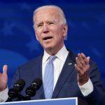 El presidente electo de EEUU Joe Biden hablando en Wilmington, Delaware. REUTERS/Kevin Lamarque