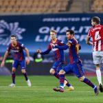 Messi expulsado en partido que Barcelona perdió 3-2 ante el Athletic de Bilbao en la Supercopa de España