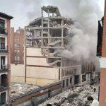 Fuerte explosión en un edificio en el centro de Madrid