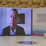 El expresidente Juan Manuel Santos interviene en el XV Encuentro de la Jurisdicción Constitucional en Pereira,