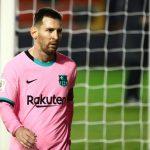Lionel Messi durante el partido de Copa del Rey del Fútbol Club Barcelona y el Rayo Vallecano disputado en el Estadio de Vallecas en Madrid, España, REUTERS/Sergio Pérez