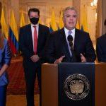 Presidente Duque anuncia llegada del primer lote de vacunas para inicias la batalla definitiva contra el coronavirus. Foto: Efrain Herrera-PRESIDENCIA