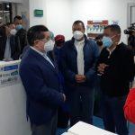 Minsalud dijo en Manizales que la vacuna permitirá pasar la página de esta pandemia. Foto Gobernación de Caldas