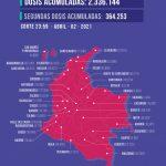 Colombia afirma que hay más de 2,3 millones de personas vacunadas contra la COVID-19