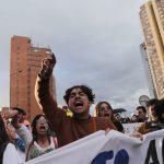 Manifestación contra el asesinato de activistas sociales en Bogotá. REUTERS/Luisa González