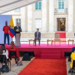 Este es un Gobierno con vocación reparadora, manifestó este viernes el Presidente Iván Duque Márquez, durante el acto de conmemoración del Día Nacional de Memoria y Solidaridad con las Victimas, efectuado en la Casa de Nariño. Foto: David Romo - PRESIDENCIA