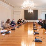 El Presidente Iván Duque se reunió este lunes, en la Casa de Nariño, con el Director del Consejo Nacional de Seguridad de Estados Unidos para el Hemisferio Occidental, Juan González. Foto: David Romo– PRESIDENCIA