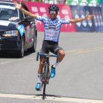 Yesid Pira (Alcaldía de La Vega Liro Sport), ganador de la cuarta etapa en el Alto de la Línea