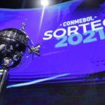Copa Libertadores durante el sorteo del torneo en Luque, Paraguay. 9 abr, 2021. Pool via REUTERS/Nathalia Aguilar