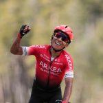 Nairo Quintana del Arkéa-Samsic líder de la Vuelta a Asturias 2021.