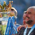 Pep Guardiola Bandera de España, campeón de la Premier League Bandera de Inglaterra con El Manchester City.