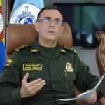 El director de la Policía Nacional de Colombia, general Jorge Luis Vargas, habla durante una entrevista con Reuters en Bogotá, Colombia, 15 de mayo, 2021.  REUTERS/Javier Andrés Rojas