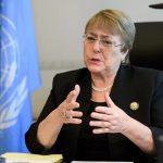 Michelle Bachelet,comisionada de Derechos Humanos de la ONU. Fabrice Coffrini, Pool / vía Reuters