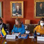 Reunión de la Vicepresidente-Canciller Martha Lucia Ramirez con la CIDH de visita en Colombia