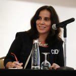 Antonia Urrejola, presidenta de la Comisión Interamericana de Derechos Humanos (CIDH) atiende una conferencia de prensa en Bogotá, Colombia, 7 de junio, 2021, REUTERS/Nathalia Angarita NO VENTAS NO ARCHIVO