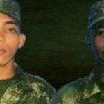 Soldados César Rivera y Jonathan Díaz