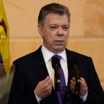 El expresidente colombiano Juan Manuel Santos, cuando se desempeñaba como mandatario, habla en una ceremonia de instalación del Congreso en Bogotá, Colombia, 20 de julio, 2018. REUTERS/Juan Pablo Pino