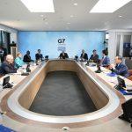 Líderes del G7 durante una sesión de trabajo en Carbis Bay, Cornwall, Inglaterra, Junio 12, 2021. Leon Neal/Pool vía REUTERS