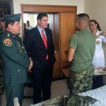 El ministro de defensa nacional visitó en el hospital militar Soldados Liberados3