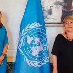 La Vicepresidente y Canciller Marta Lucía Ramírez se reunió –este lunes- con la Alta Comisionada de las Naciones Unidas para los Derechos Humanos, Michelle Bachelet,