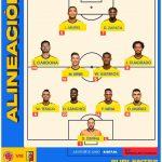 Estos son los 11 inicialistas para nuestro segundo partido por la CONMEBOL COPA AMERICA -Colombia -Venezuela