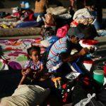 Migrantes venezolanos en un campamento temporario en Arauquita. REUTERS/Luisa González