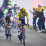Tadej Pogacar ha ganado la 17ª etapa del Tour de Francia tras superar a Vingegaard y Carapaz en la ascensión final a-A.S.O. Pauline Ball