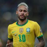 Neymar, con la camiseta de Brasil, en acción, 10 de julio de 2021. REUTERS/Ricardo Moraes