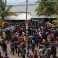 Migrantes represados en Necoclí, Antioquia Cortesía: Cesar Zúñiga