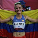 Sandra Lorena Arenas conquisto el segundo lugar de la marcha en los 20 kilómetros