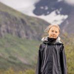 La activista climática Greta Thunberg junto a la montaña Ahkka, cerca de Sapmi, en la Laponia sueca.Carl-Johan Utsi/TT/vía Reuters. ATENCIÓN EDITORES - ESTA IMAGEN FUE
