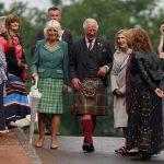 El príncipe Carlos de Inglaterra y su esposa Camilla, duquesa de Cornwall, visitan Dumfries House en Cumnock, Ayrshire, Escocia. Septiembre 9, 2021. Andrew Milligan/Pool via REUTERS
