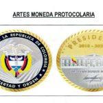Monedas de bronce recubiertas en oro para protocolo presidencial