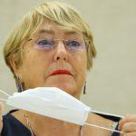 La Alta Comisionada de la ONU para los Derechos Humanos, Michelle Bachelet, asiste a una sesión del Consejo de Derechos Humanos en las Naciones Unidas en Ginebra, Suiza, 13 de septiembre de 2021. REUTERS/Denis Balibouse