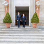 """El Presidente Iván Duque Márquez fue recibido este jueves por el Rey de España, Felipe VI, en el Palacio de la Zarzuela. """"El objetivo es fortalecer las relaciones comerciales"""", expresó el Mandatario colombiano."""