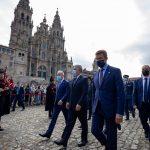 El presidente de Galicia ,Alberto Nuñez recibió a su homologo de Colombia,Ivan Duque