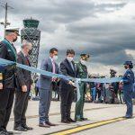 Con la llegada de dos aviones Hércules C-130 se ratifica el compromiso de Estados Unidos con Colombia. Se fortalecen operaciones de ayuda humanitaria, transporte de tropa, seguridad nacional y capacidades para controlar incendios. Foto Mindefensa