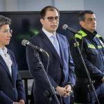 Claudia López y fiscal General en Cumbre de Seguridad en Bogotá