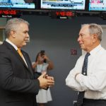 Duque y Mike Bloomberg /Foto @IvanDuque