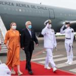 Presidente Piñera llego a visita relámpago a Colombia. Foto Presidencia de Colombia