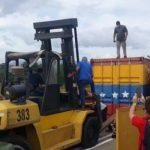 Remueven los contenedores de la frontera Colombia-Venezolana