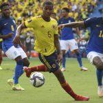 Colombia y Brasil empataron 0-0 este domingo en el Metropolitano de Barranquilla, por la fecha 5 de las Eliminatorias Sudamericanas. Foto FCF