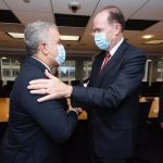 El presidente Iván Duque, se reunió con el presidente del Banco Mundial, David Malpass. Foto Presidencia de La república