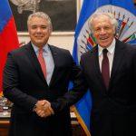 Presidente Duque se reunió con el Secretario General de la OEA, Luis Almagro. Foto Presidencia